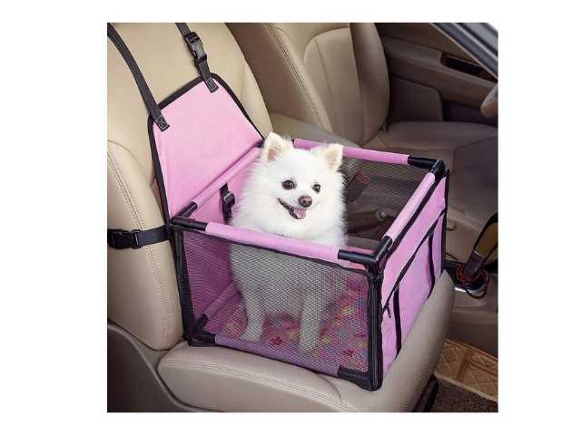 GENORTH Asiento del Coche de Seguridad para Mascotas
