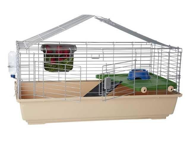 Amazon Basics - Hábitat de jaula para animales pequeños con accesorios