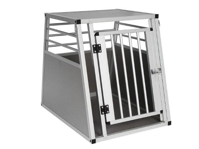 EUGAD Transportín de Aluminio para Perros Gatos